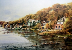 Afternoon on Boathouse Row